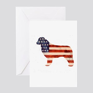 Newfoundland Dog USA Greeting Card