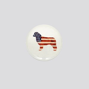 Newfoundland Dog USA Mini Button