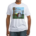 Fall Campout Fitted T-Shirt