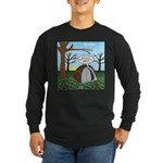 Fall Campout Long Sleeve Dark T-Shirt