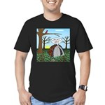 Fall Campout Men's Fitted T-Shirt (dark)