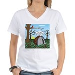 Fall Campout Women's V-Neck T-Shirt