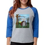 Fall Campout Womens Baseball Tee