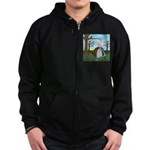 Fall Campout Zip Hoodie (dark)