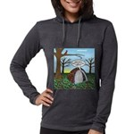 Fall Campout Womens Hooded Shirt
