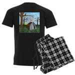 Fall Campout Men's Dark Pajamas