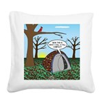 Fall Campout Square Canvas Pillow