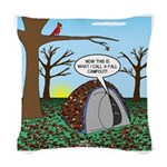 Fall Campout Woven Throw Pillow