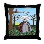 Fall Campout Throw Pillow