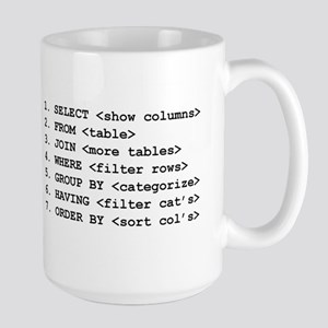 """I Speak SQL"" & SELECT Large Mug"