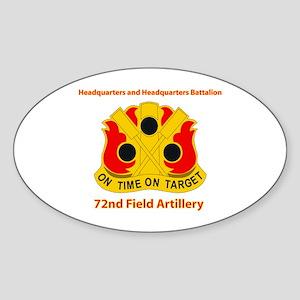 72nd Field Artillery Brigade - DUI Sticker (Oval)