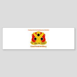 72nd Field Artillery Brigade - DUI Sticker (Bumper