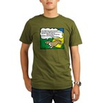 Agility Corgi Cartoon Organic Men's T-Shirt (dark)