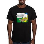 Agility Corgi Cartoon Men's Fitted T-Shirt (dark)