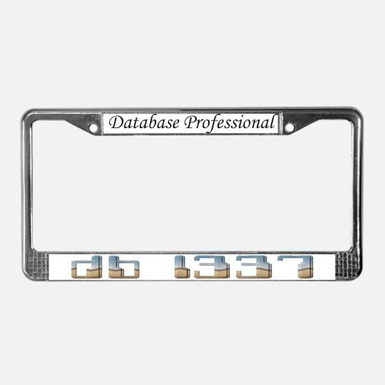 """db l337"" License Plate Frame"