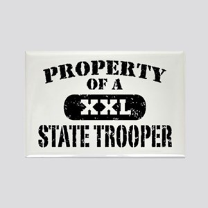 Property of a State Trooper Rectangle Magnet