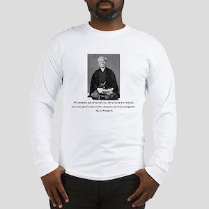 Gichin Funakoshi quote Long Sleeve T-Shirt