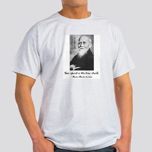 Morihei Ueshiba quote 1 Ash Grey T-Shirt