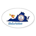 ILY Virginia Sticker (Oval 10 pk)
