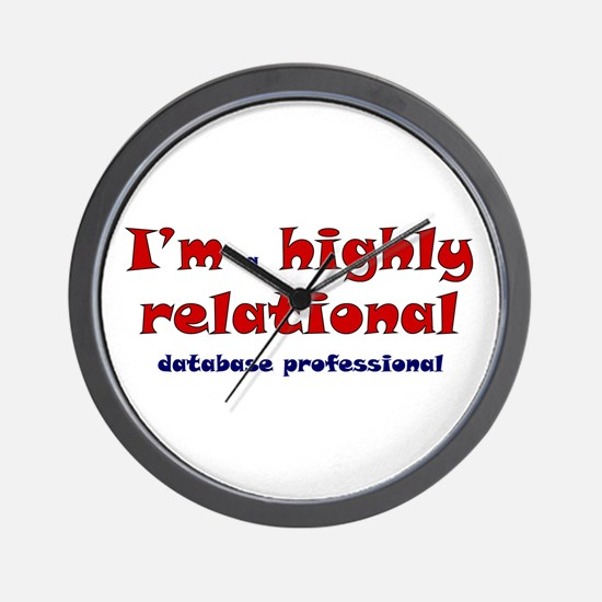 """""""Highly Relational"""" Wall Clock"""