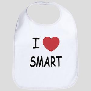 I heart smart Bib