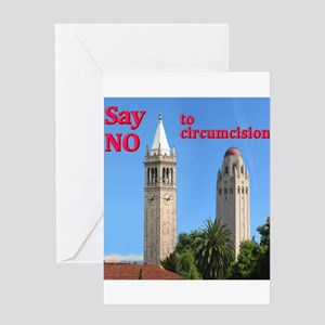 """""""Say NO' - Two Towers Greeting Card"""
