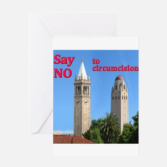 """Say NO' - Two Towers Greeting Card"