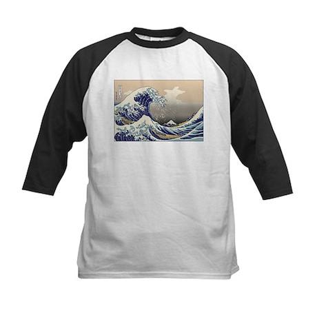 Hokusai The Great Wave Kids Baseball Jersey