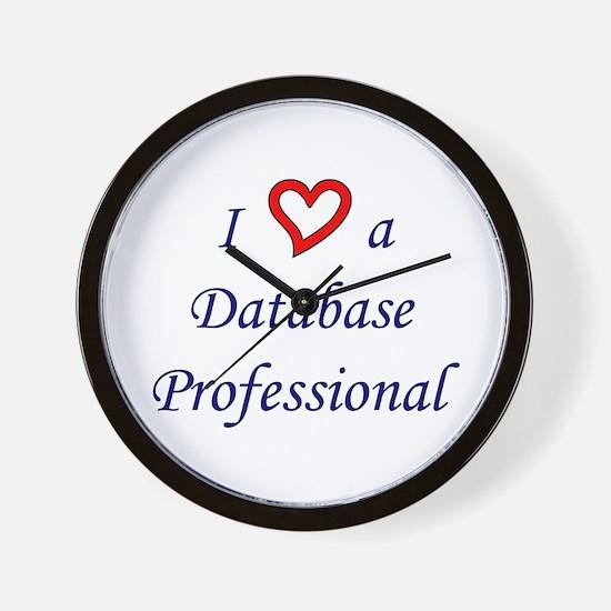 """""""I Love a DB Pro"""" Wall Clock"""