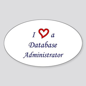"""I Love a DBA"" Oval Sticker"