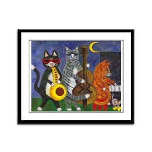 Jazz Cats Framed Panel Print