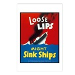 Loose Lips Sink Ships Postcards (Package of 8)