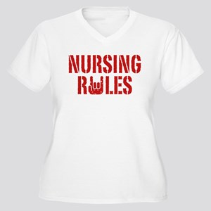 Nursing Rules Women's Plus Size V-Neck T-Shirt