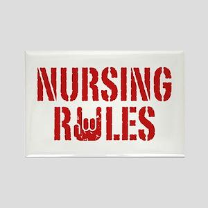 Nursing Rules Rectangle Magnet