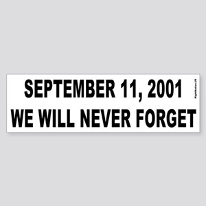 9-11 Bumper Sticker (white)