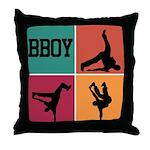 BBOY Throw Pillow