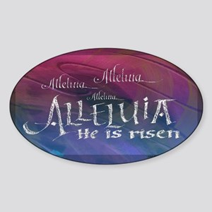 Alleluia calligraphy Sticker (Oval)