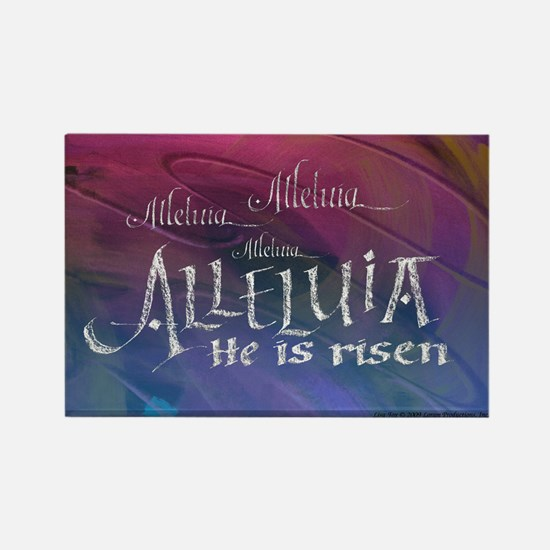 Alleluia calligraphy Rectangle Magnet (10 pack)