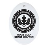 Texas Gulf Coast Chapter Ornament (Oval)