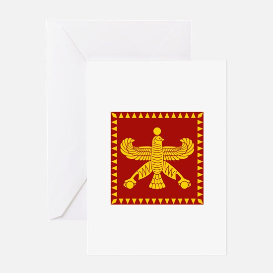 Cyrus the Great Persian Standard Flag Greeting Car