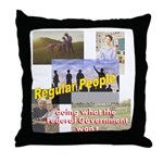 Regular People Throw Pillow