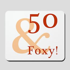Foxy 50th Birthday Mousepad