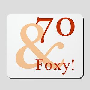 Foxy 70th Birthday Mousepad