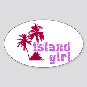 Island Girl Sticker (Oval)