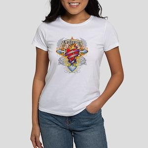 Epilepsy Cross & Heart Women's T-Shirt