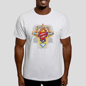 Epilepsy Cross & Heart Light T-Shirt
