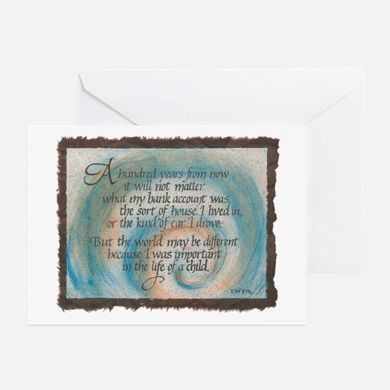 100 Years - Brown Greeting Cards (Pk of 10)