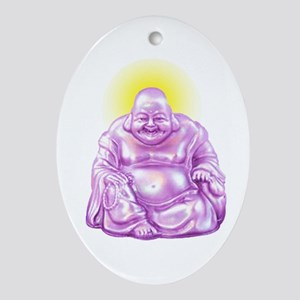 HAPPY BUDDHA Ornament (Oval)