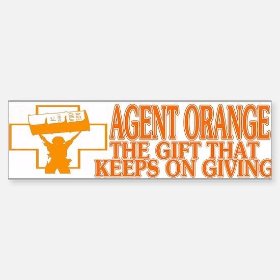 agent orange bumber sticker Sticker (Bumper)
