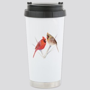 Northern Cardinal male & fema Stainless Steel